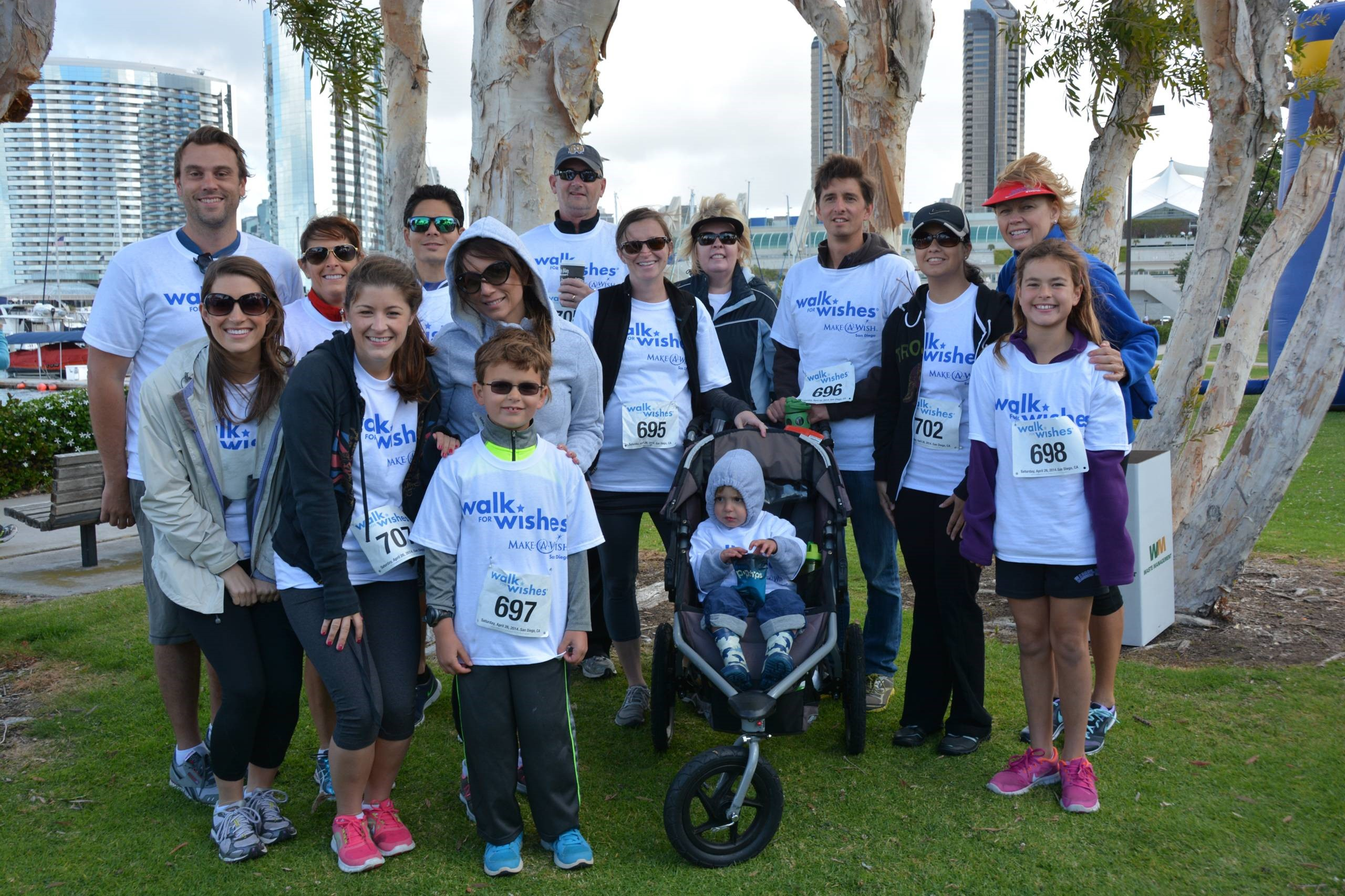Team WTK Wish Granters in the 2014 Make-A-Wish Walk For Wishes